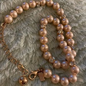 Kate Spade ♠️ Rose Gold beads with gems like new